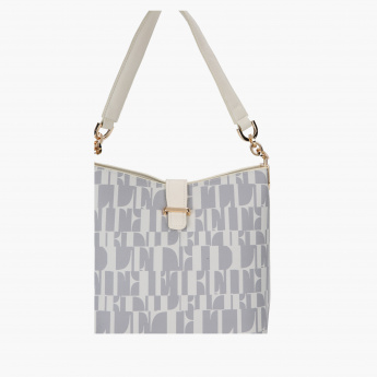 Elle Printed Hobo Bag with Magnetic Snap Closure
