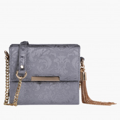 Celeste Textured Crossbody Bag with Magnetic Snap Closure