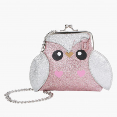 Little Missy Embellished Handbag with Kiss Lock Closure