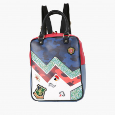 Missy Printed Rectangular Backpack