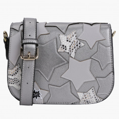 Missy Patchwork Crossbody Bag with Magnetic Snap Closure