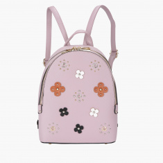 Missy Flower Applique Backpack