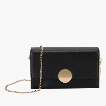 Celeste Textured Crossbody Bag with Chain Strap