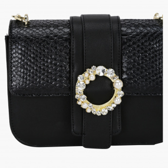 Celeste Crossbody Bag with Metallic Chain Sling
