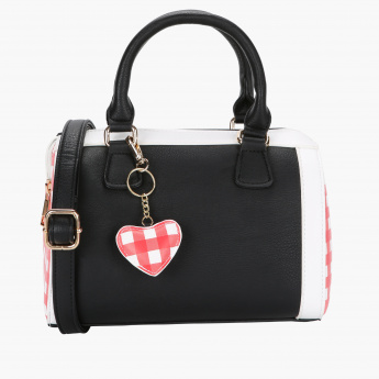 Missy Printed Handbag with Zip Closure