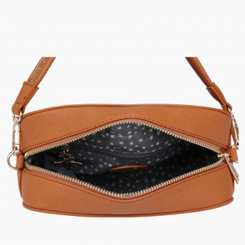 Missy Embellished Sling Bag with Zip Closure