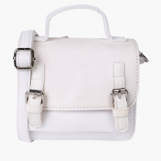 Little Missy Satchel Bag with Magnetic Snap Closure