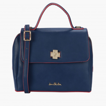 Jane Shilton Satchel Bag with Zip Closure and Flap