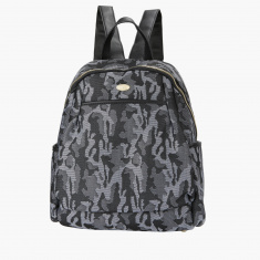 Missy Textured Camouflage Backpack