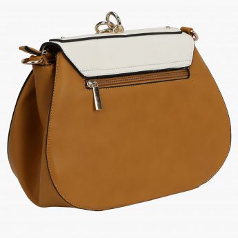 Elle Crossbody Bag with Flap and Magnetic Snap Closure
