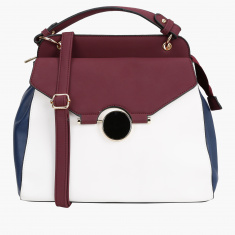 Elle Satchel Bag with Zip Closure