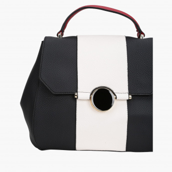 Elle Textured Crossbody Bag with Magnetic Snap Closure