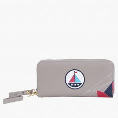 Missy Printed Wallet with Zip Closure
