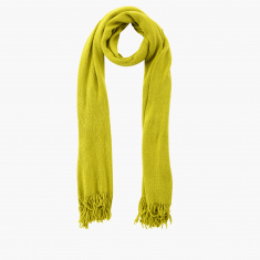 Celeste Textured Scarf with Fringes