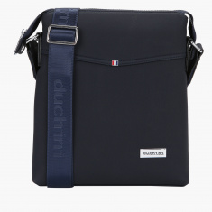Duchini Messenger Bag with Zip Closure