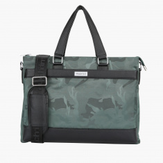 Duchini Printed Laptop Bag with Zip Closure