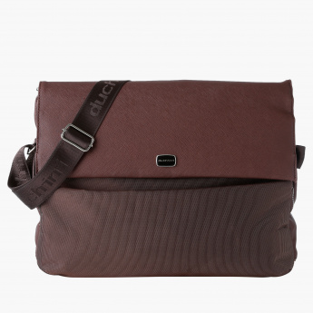 Duchini Laptop Bag with Flap and Snap Closure