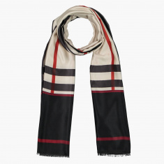 Celeste Chequered Scarf with Fringes