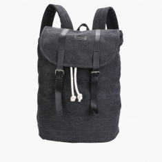 Lee Cooper Backpack with Flap and Drawstring Closure