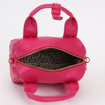 Paprika Bowler Bag with Zip Closure and Detachable Strap