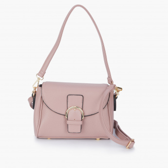 Paprika Crossbody Bag with Zip Closure and Flap