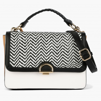 Elle Textured Crossbody Bag with Flap