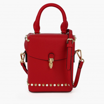 Elle Embellished Handbag with Flap