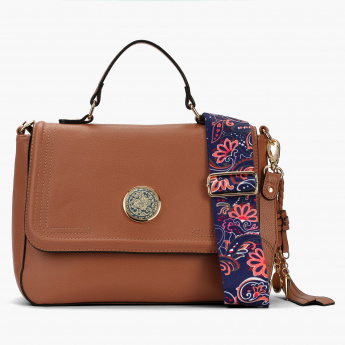 Paprika Satchel Bag with Magnetic Snap Closure