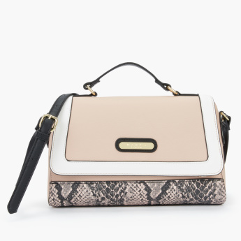 Marla London Printed Satchel Bag with Magnetic Snap Closure