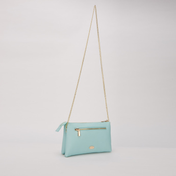 Missy Printed Sling Bag with Zip Closure