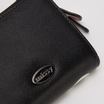 Missy Printed Bi-Fold Wallet with Button and Zip Closure