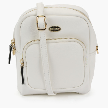 Missy Crossbody Bag with Zip Closure and Adjustable Strap