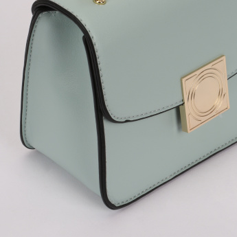 Missy Stitch Detail Sling Bag with Magnetic Snap Closure