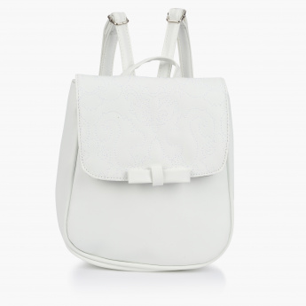 Little Missy Stitch Detail Backpack with Flap