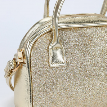 Little Missy Glitter Handbag with Zip Closure
