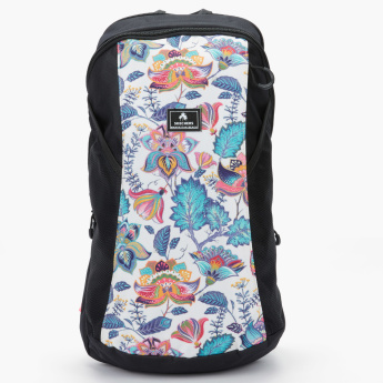 Skechers Printed Backpack with Zip Closure and Adjustable Straps