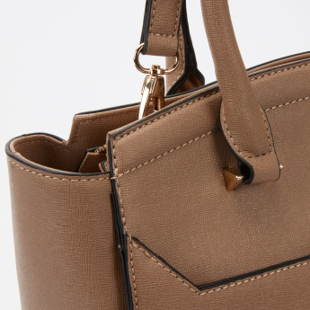 Paprika Textured Hand Bag with Zip Closure and Adjustable Strap