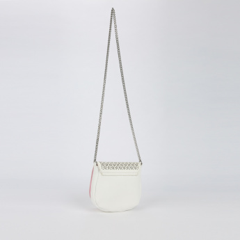 Elle Textured Sling Bag with Flap