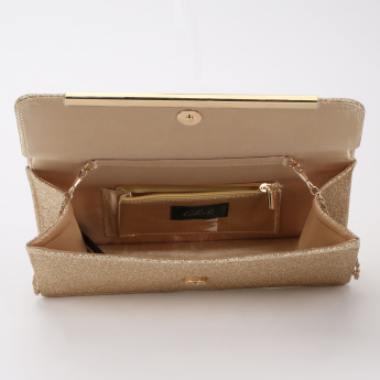 Celeste Textured Clutch with Magnetic Snap Closure