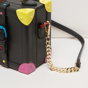 Missy Pin Buckle Detail Crossbody Bag with Adjustable Strap