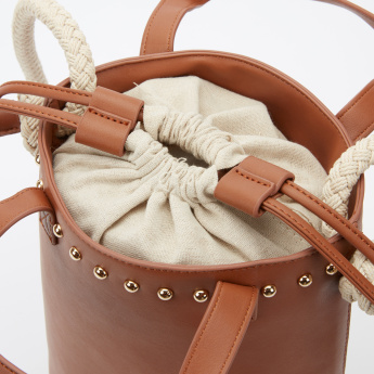 Elle Studded Bucket Bag with Rope Strap