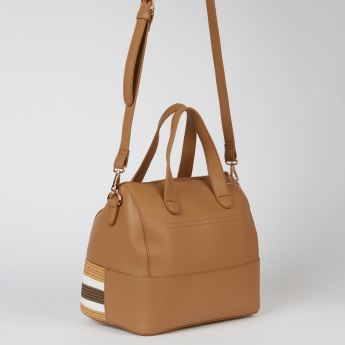 Elle Textured Handbag with Zip Closure and Adjustable Strap