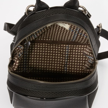 Lee Cooper Textured Backpack with Zip Closure and Adjustable Straps