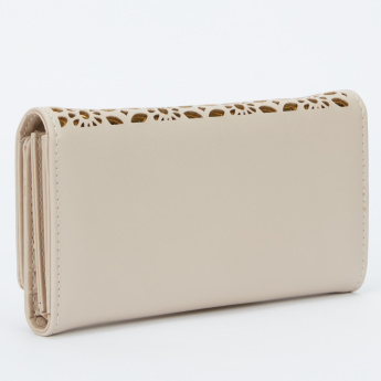 Paprika Laser Cut  Wallet with Flap and Magnetic Snap Closure