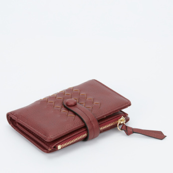 Paprika Textured Bi-Fold Wallet with Magnetic Snap Closure