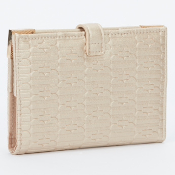 Elle Textured Passport Wallet with Magnetic Snap Closure