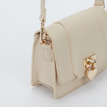 Missy Textured Satchel Bag with Magnetic Snap Closure