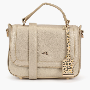 Missy Textured Crossbody Bag with Magnetic Snap Closure