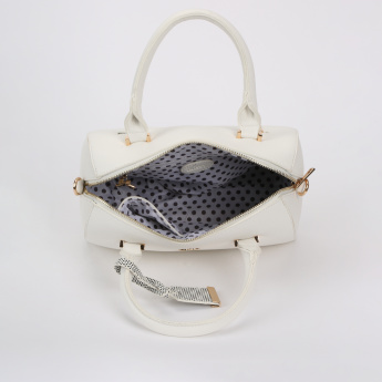 Missy Bowler Bag with Zip Closure and Adustable Strap