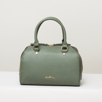 Jane Shilton Textured Bowler Bag with Zip Closure